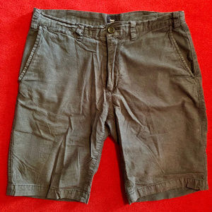 GAP flat front blue check shorts